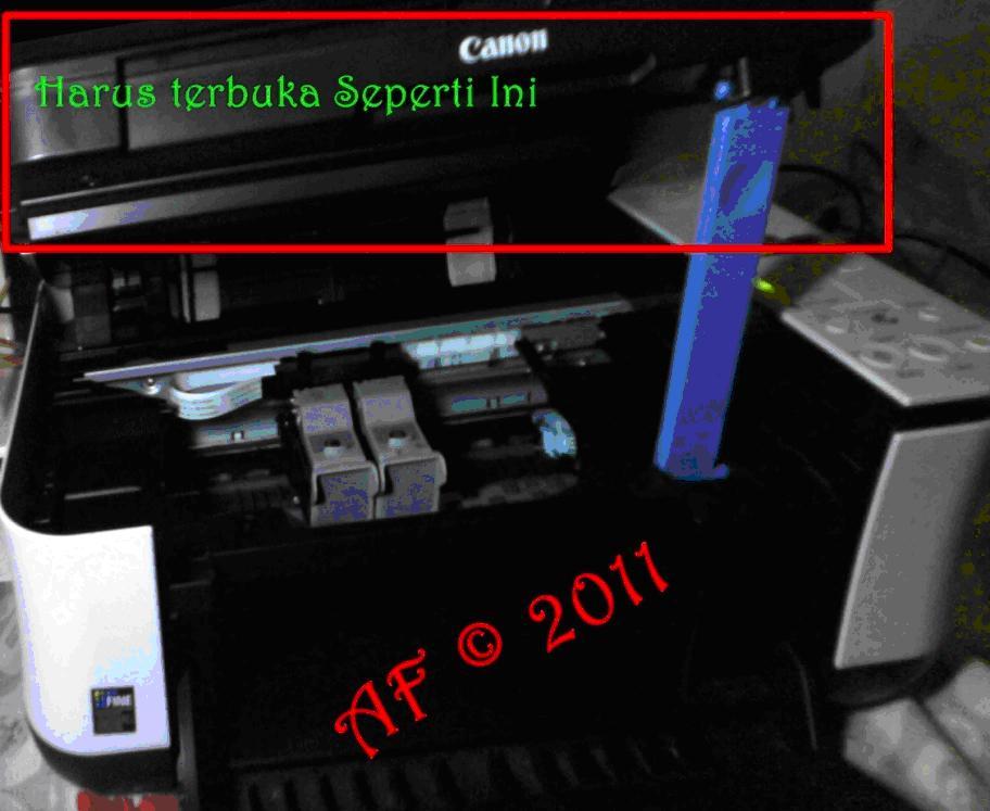 ... printer dan colokan kabel power kemudian tekan tombol on pada printer